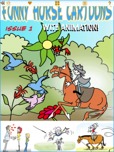 Funny Horse Cartoons Newsstand App - Issue One